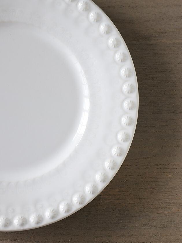 PotteryJoデザートプレートDAISYホワイト22cm