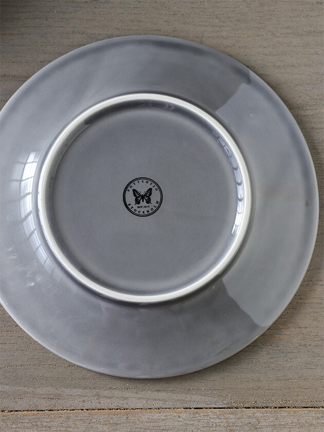 PotteryJoデザートプレートDAISYグレー22cm