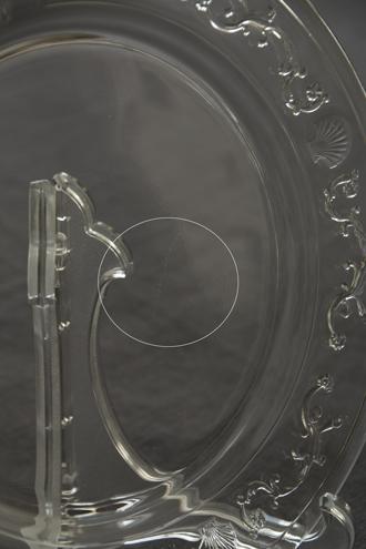 LaRochereベルサイユガラスデザートプレート19cm