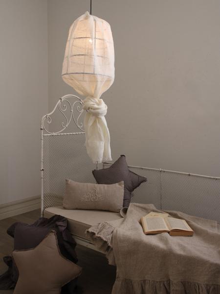 リネンハンギングランプ ホワイト