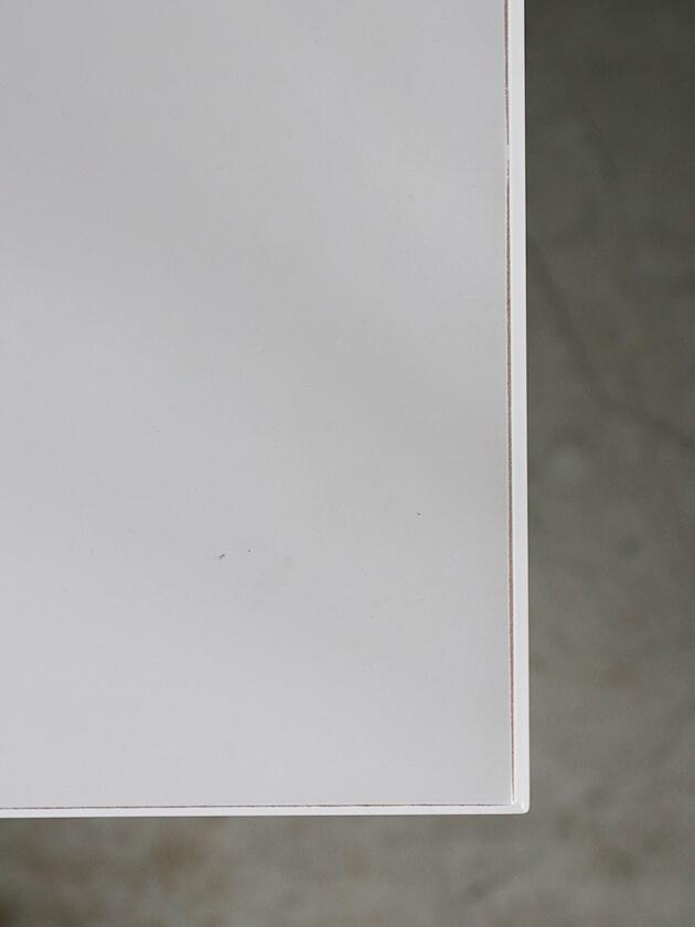 ClassicサイドテーブルLena2段シェルフホワイト