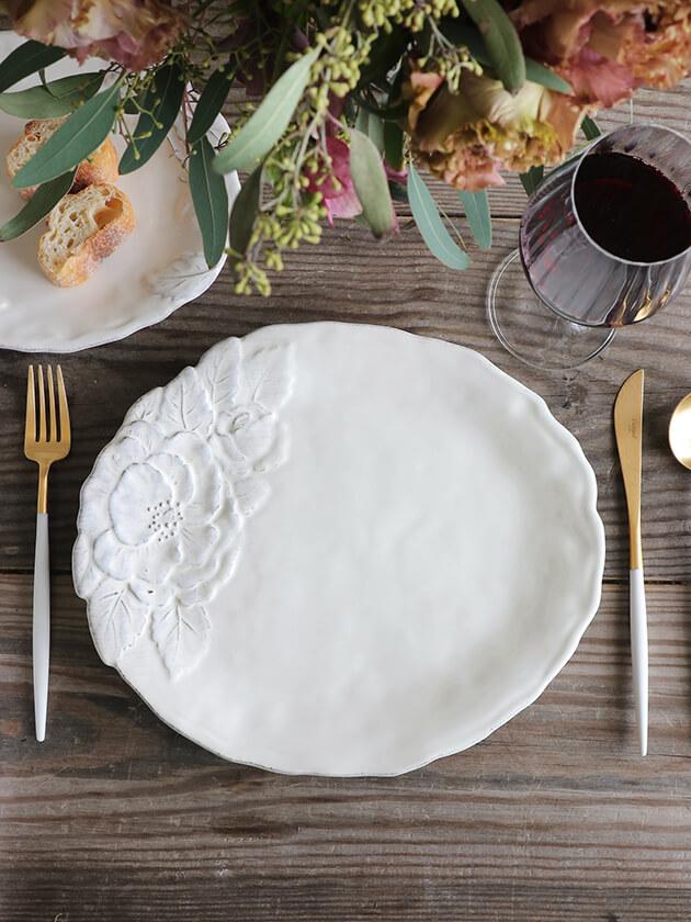 Virginia Casa ROMANTICAディナープレート ホワイト