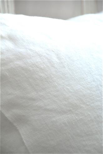 リネンクッションカバーホワイト45x45cm
