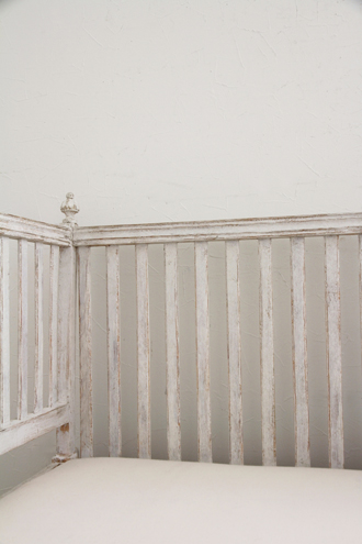 Gustavian Antiqueソファアンティークホワイト