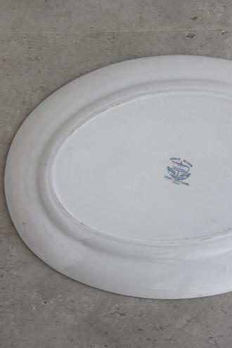 Creil&Montereau オーバル皿