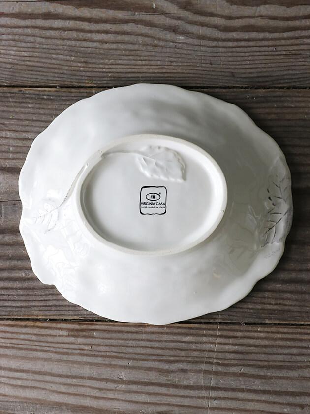 Virginia Casa ROMANTICAスープ/パスタプレート ホワイト