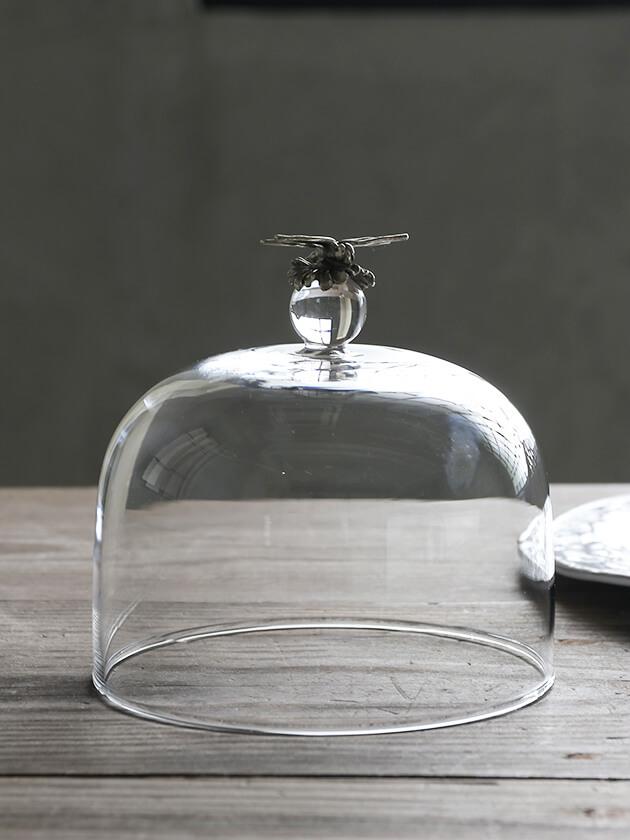 Sarah pewterガラスカバーDragonfly