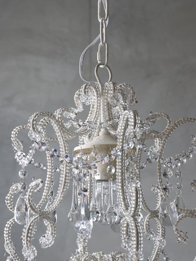 SGDシャンデリア1灯Juliaシャビーホワイト
