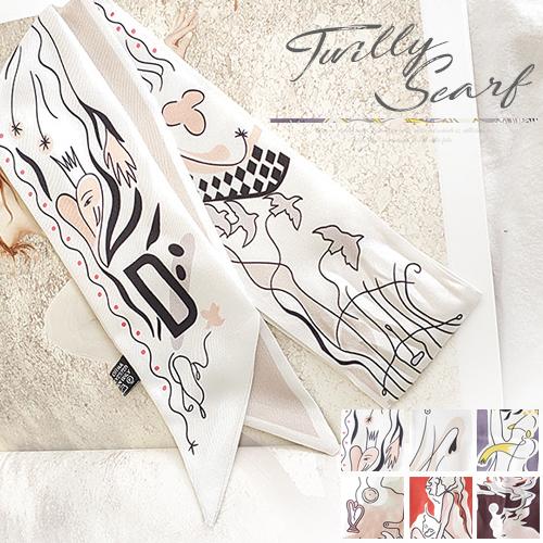ツイリースカーフ バッグ アクセサリー バッグチャーム スカーフ バッグ スリムスカーフ ヘアバンド リボン バンダナ 送料無料 クラシカル 大人可愛い 細長 りぼん おしゃれ レディース かわいい 可愛い バッグスカーフ サテン生地 バッグ用スカーフ