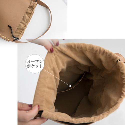 スタッズ 本革バッグ * 3color