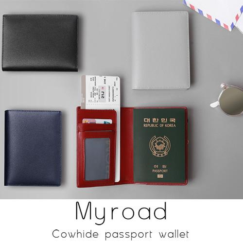 本革 遮蔽 パスポート ケース