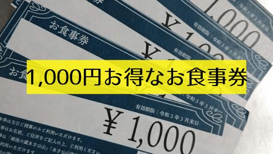 共通お食事券【新潟県内飲食店限定・送料無料】