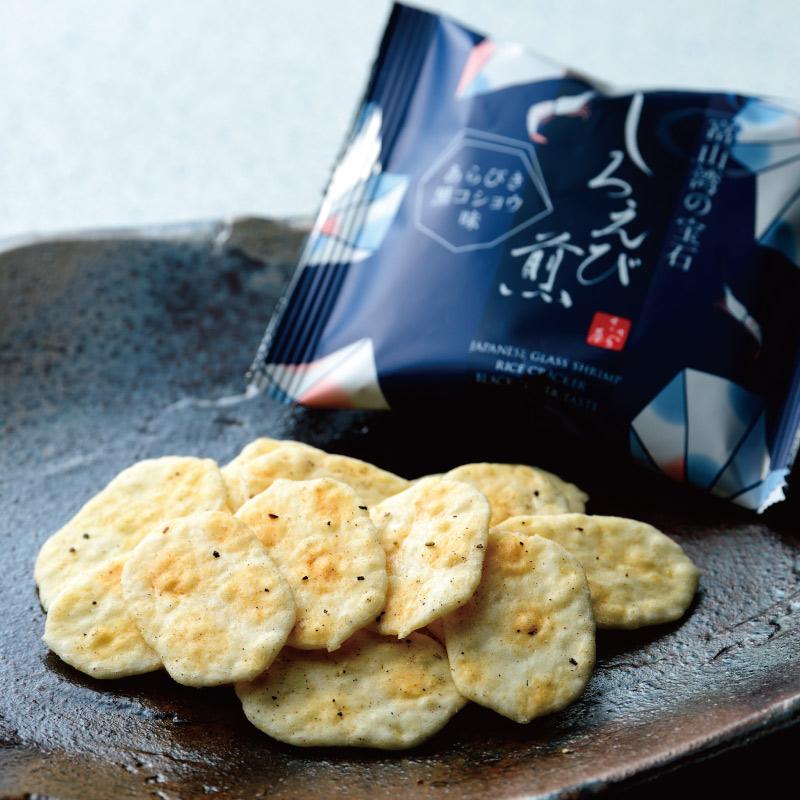 しろえび煎黒コショウ味 袋入 18g×6袋