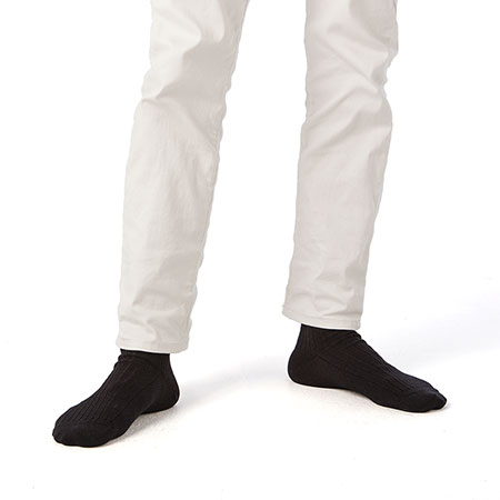 メンズリブ靴下(L)