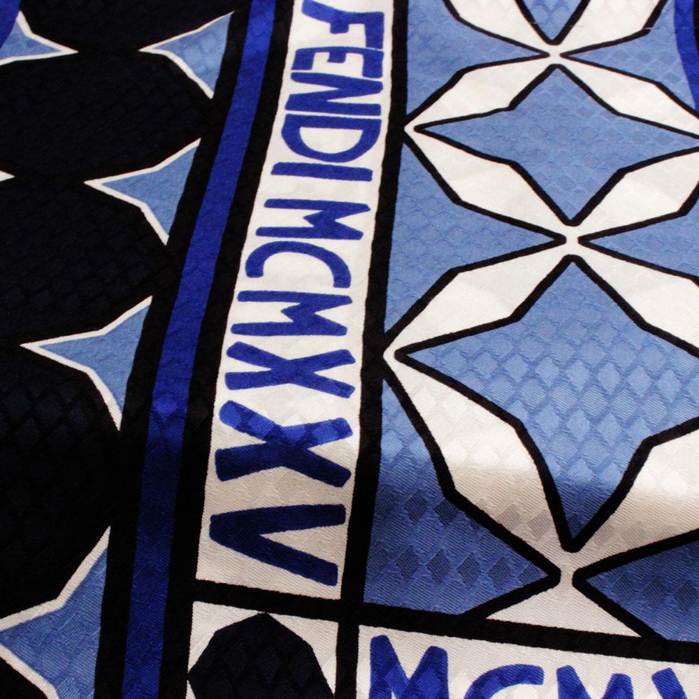 フェンディ/FENDI スカーフ マルチ柄 レディース アウトレット 新品 FXT091 A104 F0QA2 TU (ブルー系柄)
