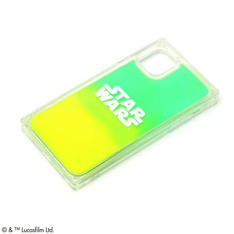 STAR WARS/iPhone 11用 ネオンサンドケース/ロゴ/グリーン&イエロー