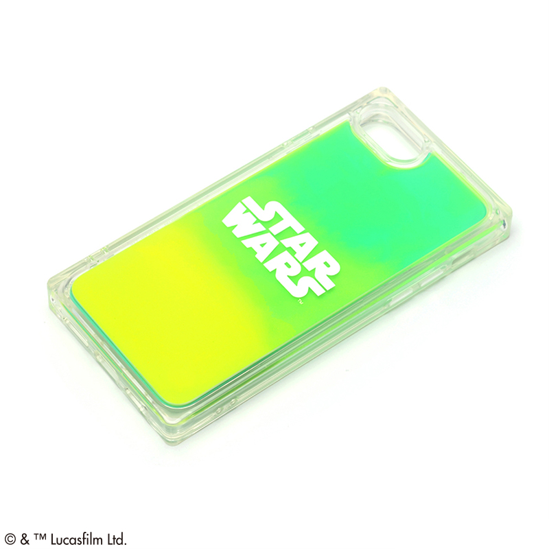 STAR WARS/iPhone SE2nd/8/7/6s/6用 ネオンサンドケース [ロゴ/グリーン&イエロー]