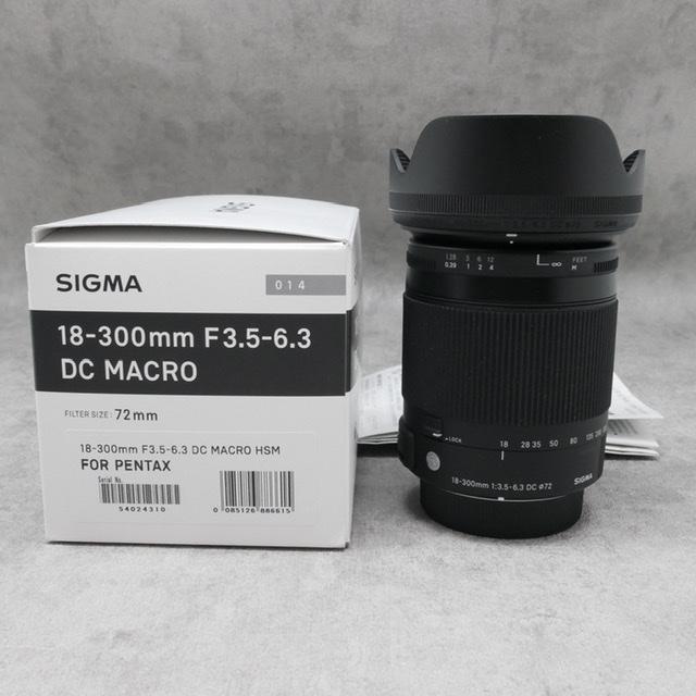 中古品 SIGMA18-300mm F3.5-6.3DC PENTAXマウント