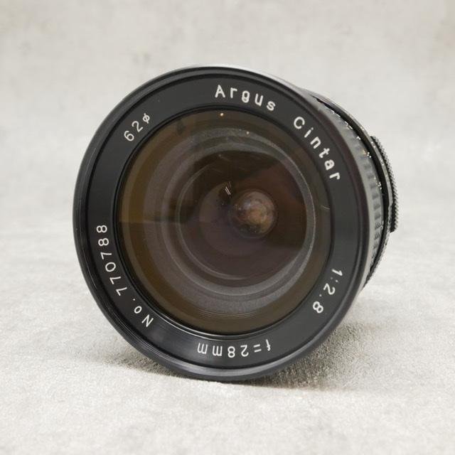 中古品 Argus Cintar 28㎜F2.8 M42マウント
