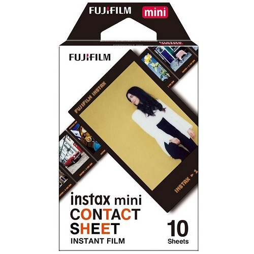 フジフイルム(FUJIFILM)インスタントカラーフイルム instax mini CONTACT SHEET 10枚入