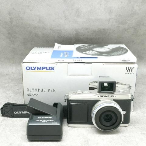 中古品 OLYMPUS E-P1 + パンケーキレンズセット