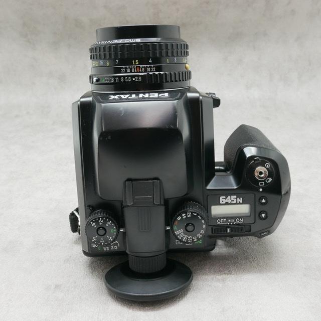 中古品 PENTAX645Nボディ PENTAX645 75mm F2.8