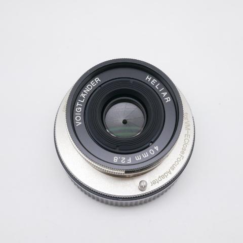 中古品 フォクトレンダー HELIAR 40mm F2.8 + VM-E Close Focus Adapter +S/Cアダプター付