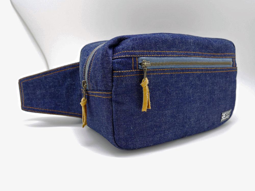 デニムリメイク カメラウェストバッグ「さんぴんバッグ」
