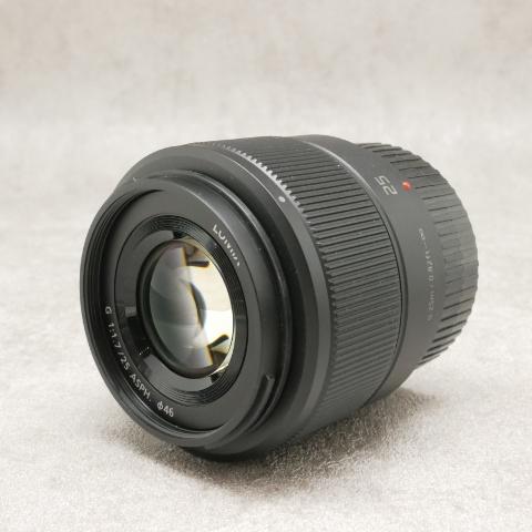 中古品 パナソニック Lumix G 25mm F/1.7 ASPH ブラック