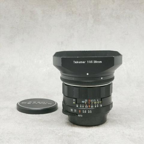 中古品 PENTAX Supuer Multi Coated TAKUMAR 28mm F3.5 (M42)