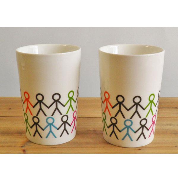 aida Mette Ditmer hold my hand double wall mug 300ml 2pcs (ロット:2)