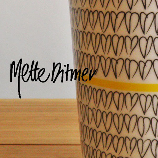 aida Mette Ditmer heart Double wall mug 300ml 2pcs (ロット:2)