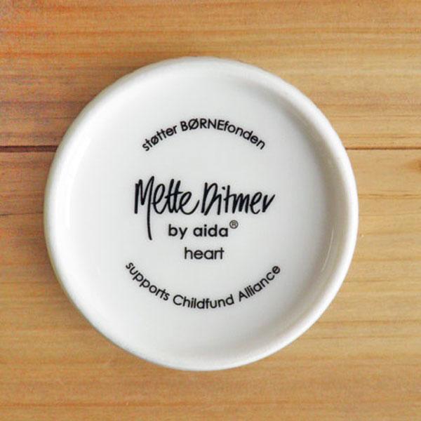 aida Mette Ditmer heart mug 220ml 2pcs (ロット:2)