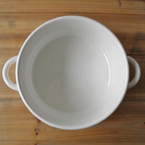 琺瑯 キャセロール20cm ホワイト(IH対応) (ロット:1)
