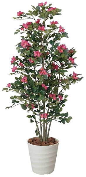 観葉植物 インテリアグリーン フェイク 人工観葉植物 光触媒 ブ−ゲンビリア 1.25  《アートグリーン》