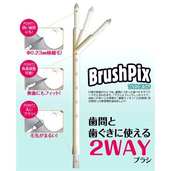 歯間スッキリ! 口内清潔! 気分爽快! ブラシようじ PINO BrushPix BP−72 72本入 2セット 訳アリ