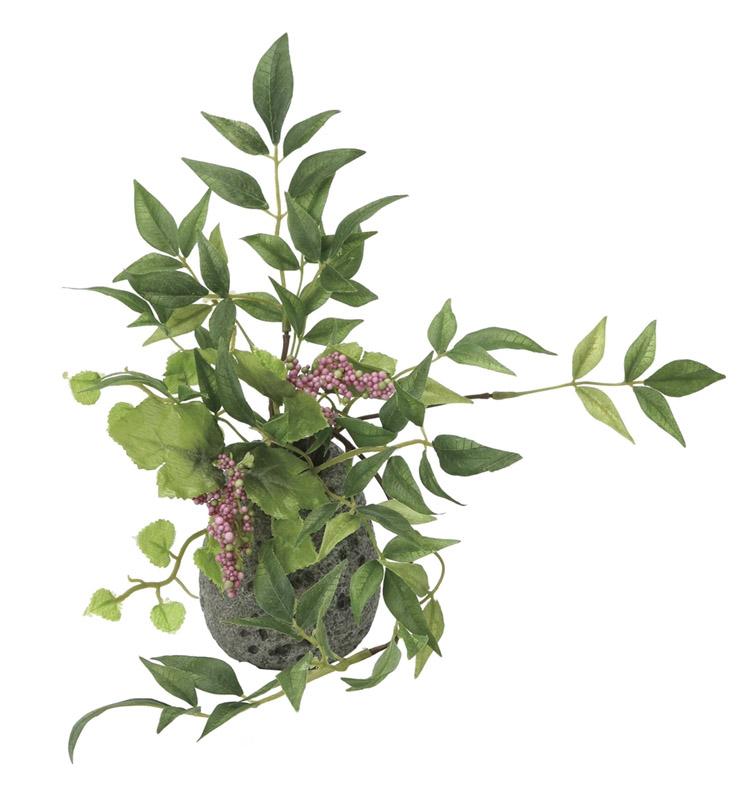 観葉植物 インテリアグリーン フェイク 人工観葉植物 光触媒 南天H 《アートグリーン》