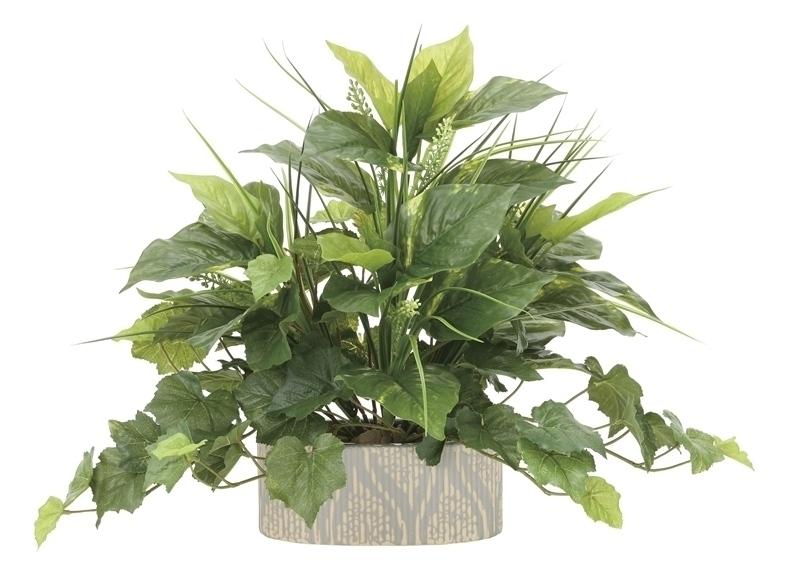 観葉植物 インテリアグリーン フェイク 人工観葉植物 光触媒 フレッシュミックス  《アートグリーン》