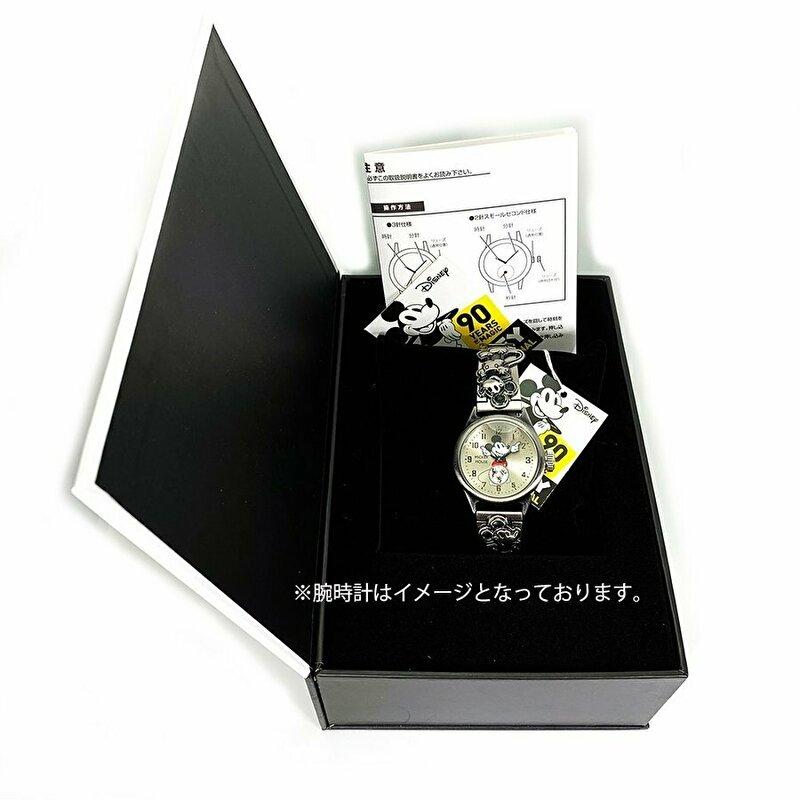 腕時計 ミッキー 記念品  ミッキー生誕90周年記念腕時計 Mickey 90th watch 3K2524A-002 ディズニー Disney