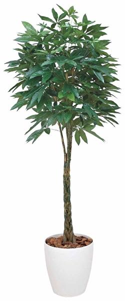 観葉植物 インテリアグリーン フェイク 人工観葉植物 光触媒 パキラ 1.6  《アートグリーン》