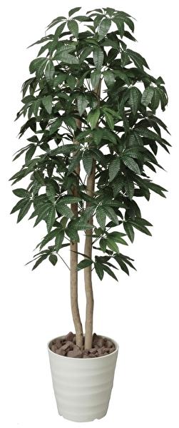 観葉植物 インテリアグリーン フェイク 人工観葉植物 光触媒 パキラツリ− 1.6  《アートグリーン》