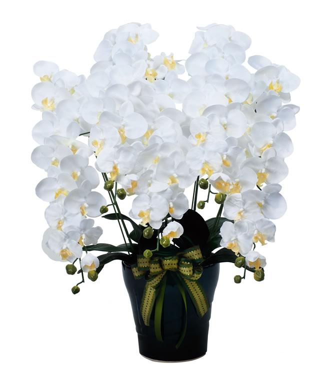 観葉植物 インテリアグリーン フェイク 人工観葉植物  光触媒 ロイヤル胡蝶蘭5本立W  《アートグリーン》