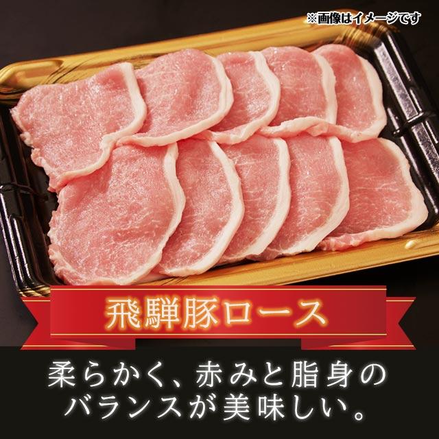 豚肉 焼肉セット しゃぶしゃぶセット 国産 飛騨豚 合計 800g ( ロース 300g バラ 500g ) 5人前 送料込