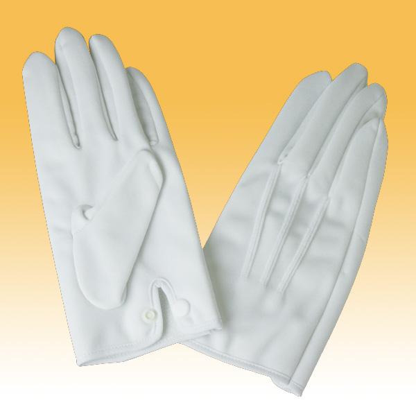 礼装用 防風防寒手袋 (ホック付)