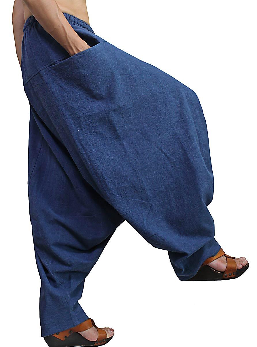 ジョムトン手織り綿のモンパンツ(インディゴ)
