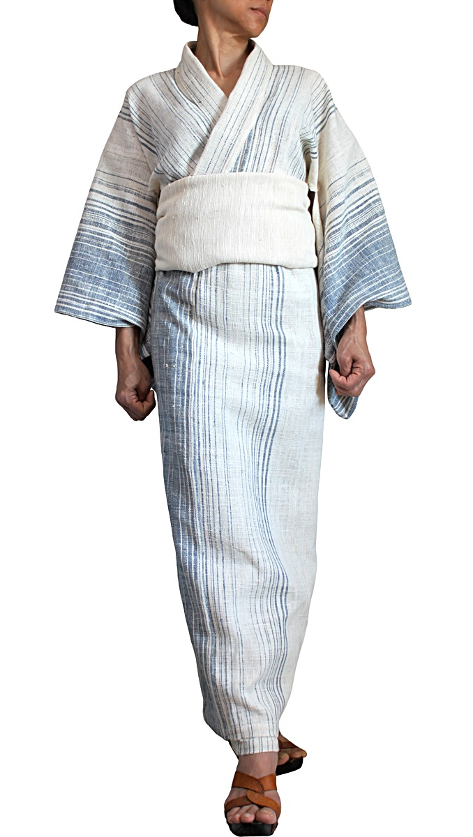 ナーンのオーガニック手織り綿キモノドレス