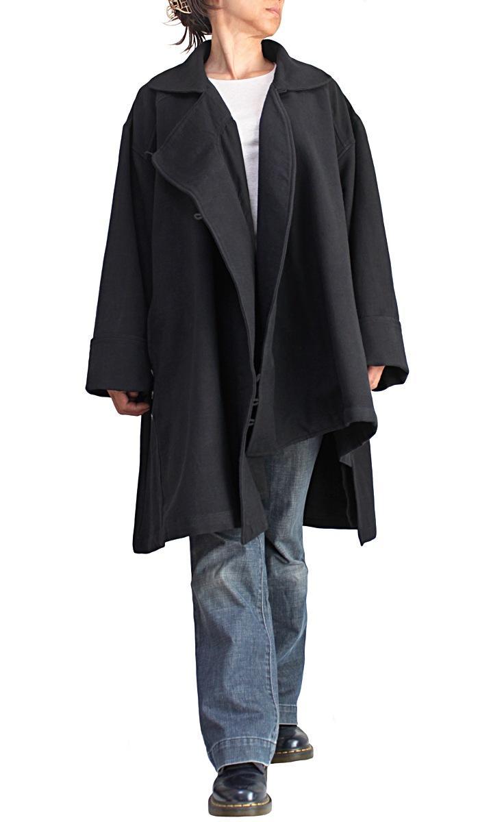 ジョムトン手織り綿ぼろコート(黒)