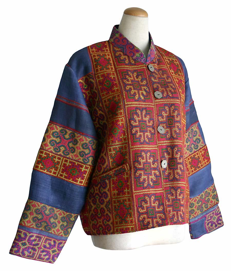 モンの古布刺繍ジャケット
