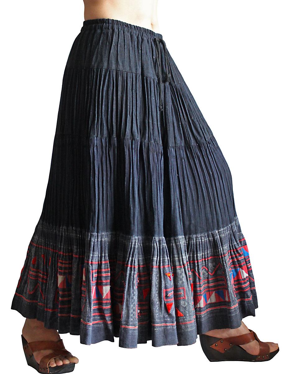 モンの古布ロングスカート