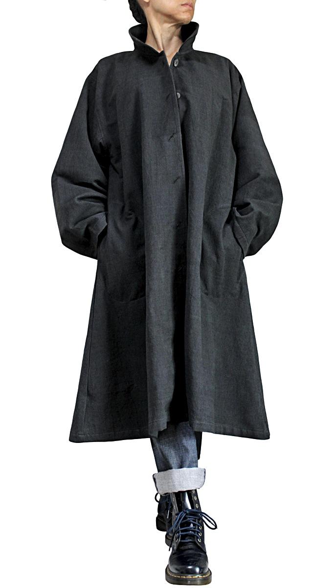 ジョムトン手織り綿ステンカラースプリングコート
